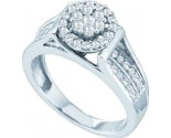Ladies Diamond Engagement Ring 14K White Gold 0.52 cts. GD-44481