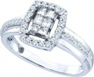 Ladies Diamond Engagement Ring 14K White Gold 0.50 cts. GD-44518