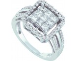 Ladies Diamond Engagement Ring 14K White Gold 1.00 ct. GD-44530