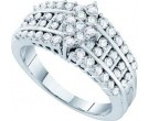 Ladies Diamond Engagement Ring 14K White Gold 1.00 ct. GD-44559
