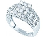 Ladies Diamond Engagement Ring 14K White Gold 1.00 ct. GD-44579