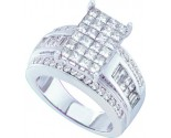Ladies Diamond Engagement Ring 14K White Gold 2.00 ct. GD-44582