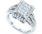 Ladies Diamond Egagement Ring 14K White Gold 0.98 cts. GD-44599