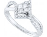 Ladies Diamond Engagement Ring 14K White Gold 0.46 cts. GD-45397