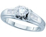 Ladies Diamond Engagement Ring 14K White Gold 0.66 cts. GD-45432