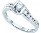 Ladies Diamond Engagement Ring 14K White Gold 0.50 cts. GD-45486