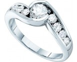 Ladies Diamond Engagement Ring 14K White Gold 0.91 cts. GD-45488