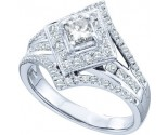 Ladies Diamond Engagement Ring 14K White Gold 1.00 ct. GD-45588