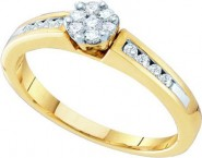 Diamond Engagement Ring 10K Two Tone Gold 0.27 cts. GD-46146