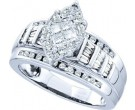 Ladies Diamond Engagement Ring 14K White Gold 0.82 cts. GD-46313