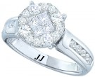 Ladies Diamond Engagement Ring 14K White Gold 1.05 cts. GD-46417