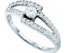 Ladies Diamond Engagement Ring 14K White Gold 0.50 cts. GD-46747