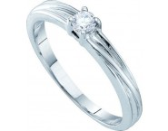 Ladies Diamond Engagement Ring 10K White Gold 0.10 cts. GD-12775