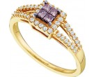 Ladies Diamond Fashion Ring 14K Yellow Gold 0.33 cts. GD-47237