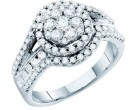 Ladies Diamond Engagement Ring 14K White Gold 1.01 cts. GD-47376