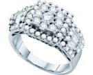Ladies Diamond Engagement Ring 14K White Gold 1.50 cts. GD-47460