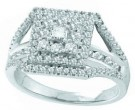 Ladies Diamond Engagement Ring 14K White Gold 1.00 ct. GD-47720