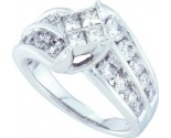 Ladies Diamond Egagement Ring 14K White Gold 2.00 ct. GD-47728