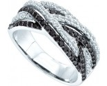 Ladies Diamond Fashion Band 14K White Gold 0.88 cts. GD-51100