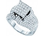 Ladies Diamond Engagement Ring 14K White Gold 2.00 ct. GD-52297