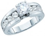 Ladies Diamond Engagement Ring 14K White Gold 1.75 cts. GD-52322