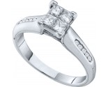 Ladies Diamond Engagement Ring 14K White Gold 0.63 cts. GD-52325