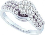 Ladies Diamond Engagement Ring 14K White Gold 0.75 cts. GD-52327 [GD-52327]