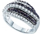 Ladies Diamond Fashion Band 14K White Gold 0.99 cts. GD-52331