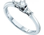 Ladies Diamond Engagement Ring 14K White Gold 0.19 cts. GD-52545