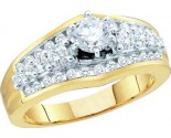 Ladies Diamond Engagement Ring 14K Yellow Gold 1.00 ct. GD-52757