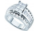 Ladies Diamond Engagement Ring 14K White Gold 2.00 ct. GD-52805