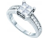 Ladies Diamond Engagement Ring 14K White Gold 1.00 ct. GD-52824
