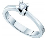 Ladies Diamond Promise Ring 14K White Gold 0.10 cts. GD-52965