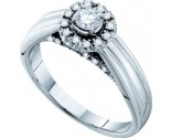 Ladies Diamond Engagement Ring 14K White Gold 0.33 cts. GD-52974
