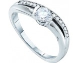 Ladies Diamond Engagement Ring 14K White Gold 0.42 cts. GD-52976