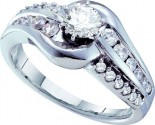 Diamond Round Engagement Ring 14K White Gold 1.00 ct. GD-52978