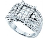 Ladies Diamond Egagement Ring 14K White Gold 2.00 ct. GD-52989