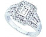 Ladies Diamond Engagement Ring 14K White Gold 0.77 cts. GD-53005