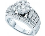 Ladies Diamond Engagement Ring 14K White Gold 1.50 cts. GD-53057