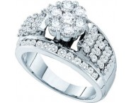 Ladies Diamond Engagement Ring 14K White Gold 1.50 cts. GD-53057 [GD-53057]