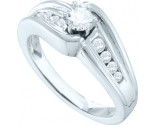 Ladies Diamond Engagement Ring 14K White Gold 0.40 cts. GD-53070