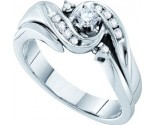 Ladies Diamond Engagement Ring 14K White Gold 0.26 cts. GD-53074