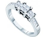 Ladies Diamond Engagement Ring 14K White Gold 0.50 cts. GD-53123