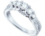 Ladies Diamond Engagement Ring 14K White Gold 1.00 ct. GD-53124