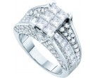 Ladies Diamond Engagement Ring 14K White Gold 3.00 ct. GD-53201