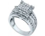 Ladies Diamond Engagement Ring 14K White Gold 2.00 ct. GD-53262