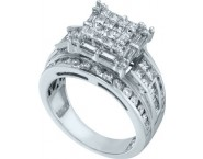 Ladies Diamond Engagement Ring 14K White Gold 2.00 ct. GD-53262 [GD-53262]