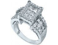 Ladies Diamond Engagement Ring 14K White Gold 2.00 ct. GD-53263