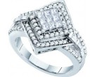 Ladies Diamond Engagement Ring 14K White Gold 0.75 cts. GD-53264