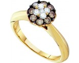 Champagne Diamond Fashion Ring 14K Yellow Gold 0.50 cts. GD-53296